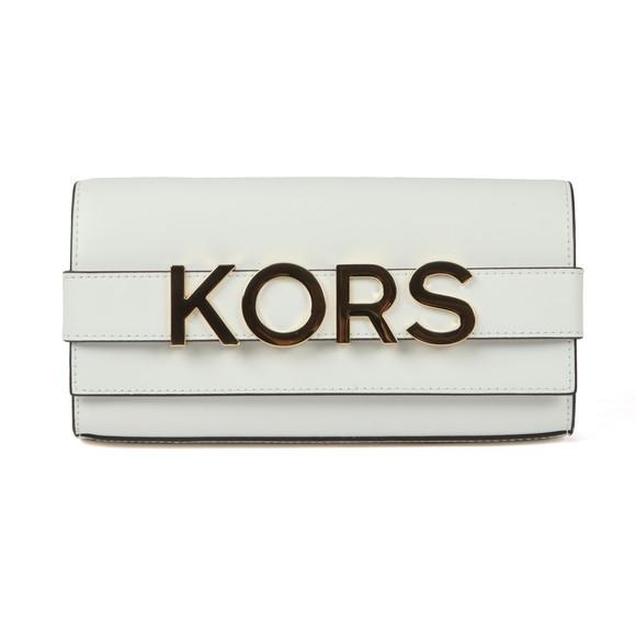 Michael Kors Womens White Bellamie Strap Clutch main image