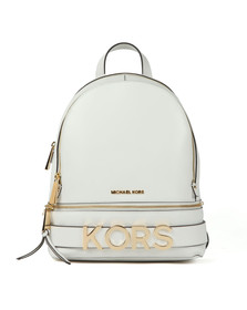 Michael Kors Womens White Rhea Zip Backpack