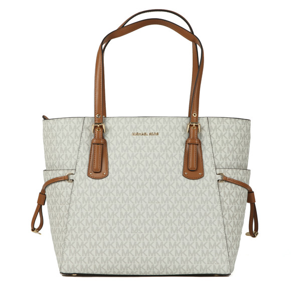Michael Kors Womens Off-White Voyager East West Signature Tote Bag main image