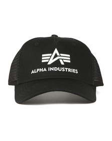 Alpha Industries Mens Black Basic Trucker Cap