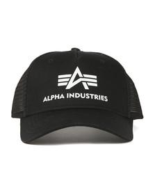 Alpha Industries Mens Black Basic Trucker Cap