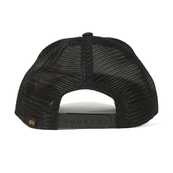 Alpha Industries Mens Black Basic Trucker Cap main image