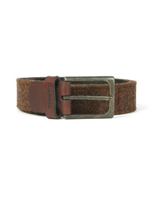 Barbour Lifestyle Mens Brown Tweed Leather Belt