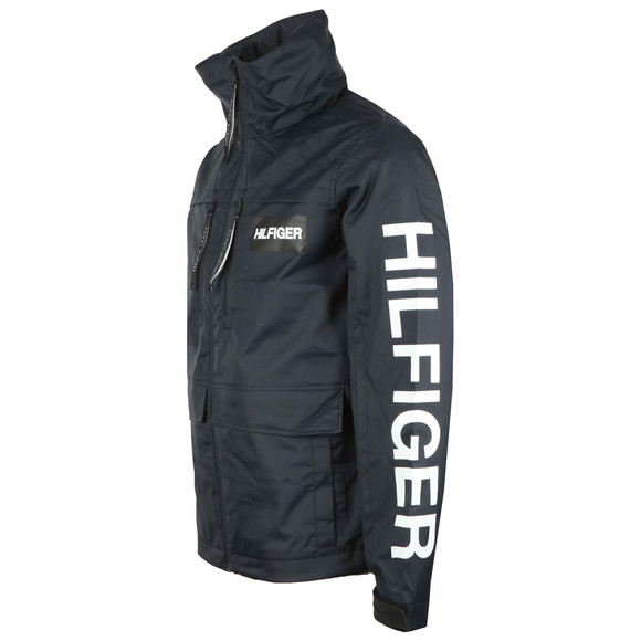 Tommy Hilfiger Mens Blue Tech Hooded Jacket main image