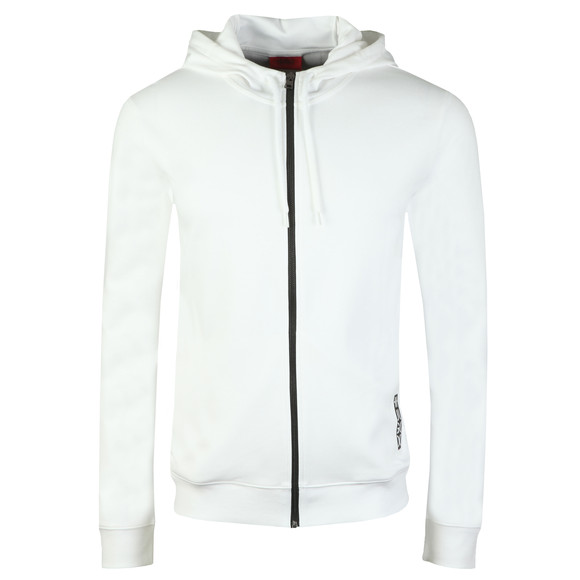 HUGO Mens White Dondy Full Zip Hoody main image