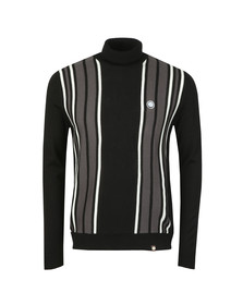 Pretty Green Mens Black Long Sleeve Knitted Roll Neck