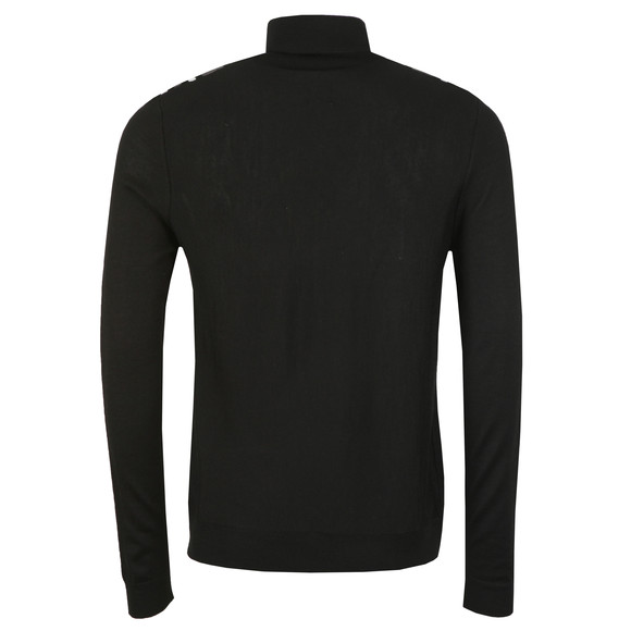 Pretty Green Mens Black Long Sleeve Knitted Roll Neck main image