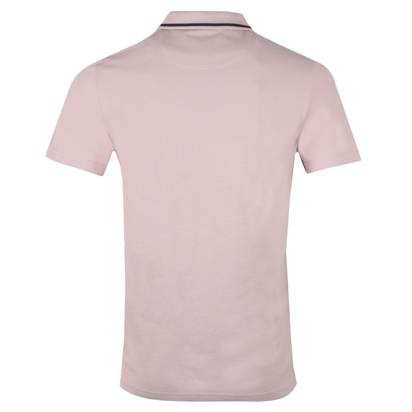 Lyle and Scott Mens Pink Fabric Mix Football Polo Shirt main image