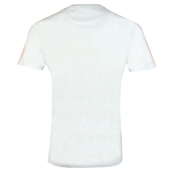 Lyle and Scott Mens White Side Stripe T-Shirt main image