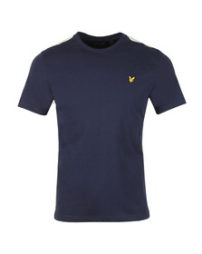 Lyle and Scott Mens Blue Side Stripe T-Shirt