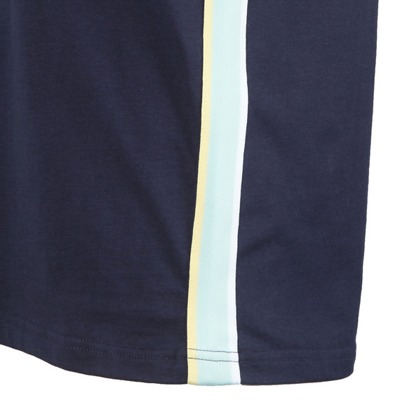 Lyle and Scott Mens Blue Side Stripe T-Shirt main image