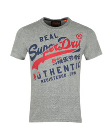 Superdry Mens Grey Vintage Authentic Tee