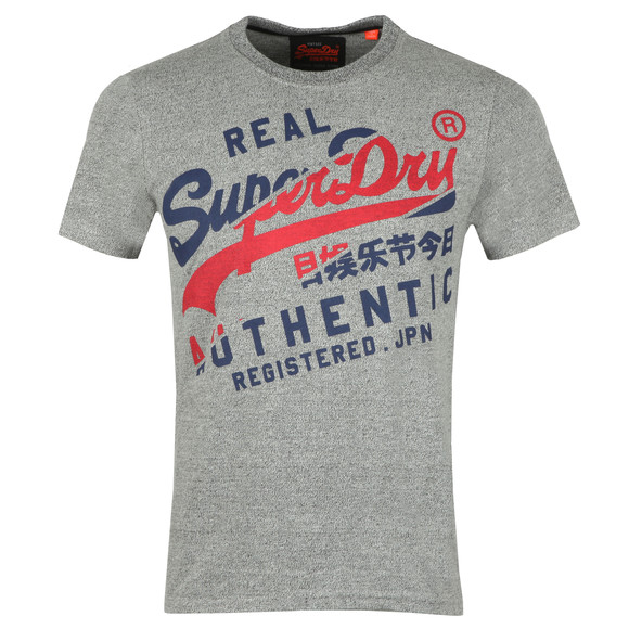 Superdry Mens Grey Vintage Authentic Tee main image