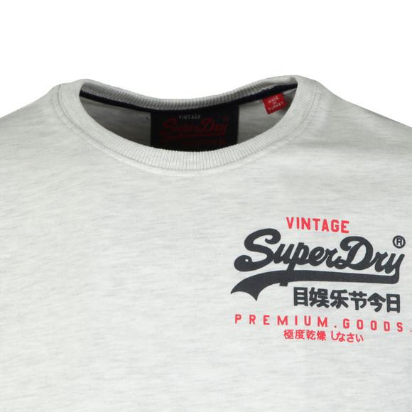 Superdry Mens Grey S/S Goods Duo Essential Tee main image