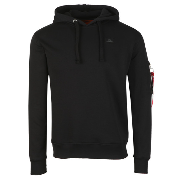 Alpha Industries Mens Black X Fit Hoody
