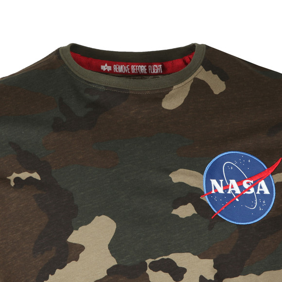 Alpha Industries Mens Green Space Shuttle T Shirt main image