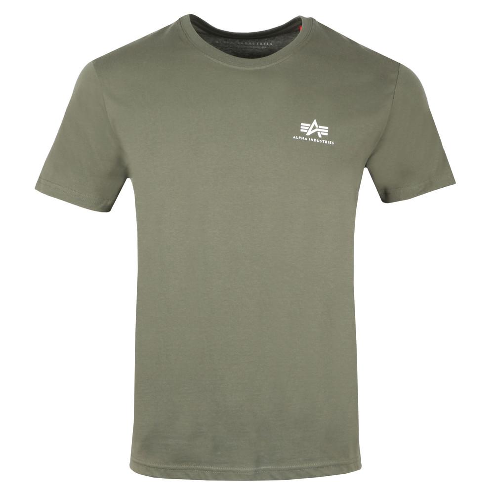 super jakość oficjalna strona najlepszy Mens Green Basic Small Logo T Shirt