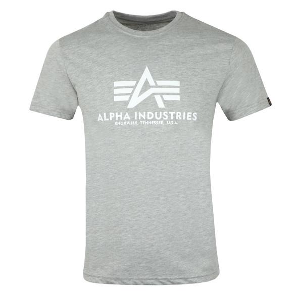Alpha Industries Mens Grey Logo T Shirt main image
