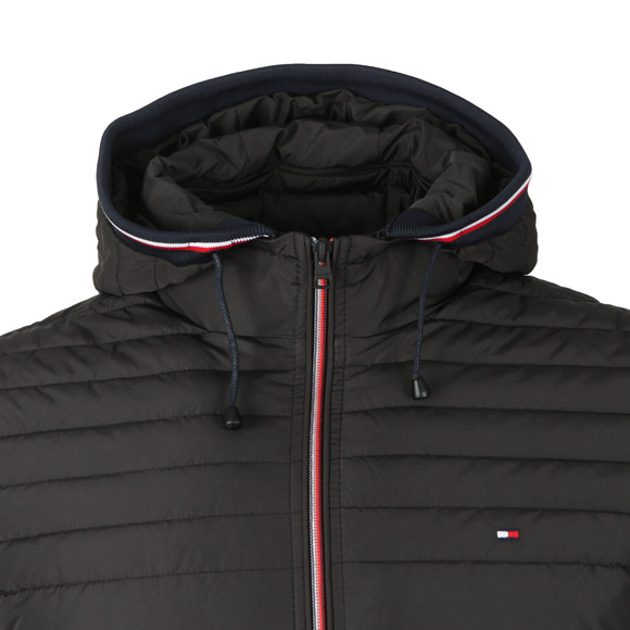 Tommy Hilfiger Mens Black Lathan Detachable Hooded Jacket main image