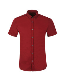 HUGO Mens Red Empson Short Sleeve Shirt