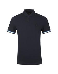 BOSS Mens Blue Casual Printcat Polo Shirt