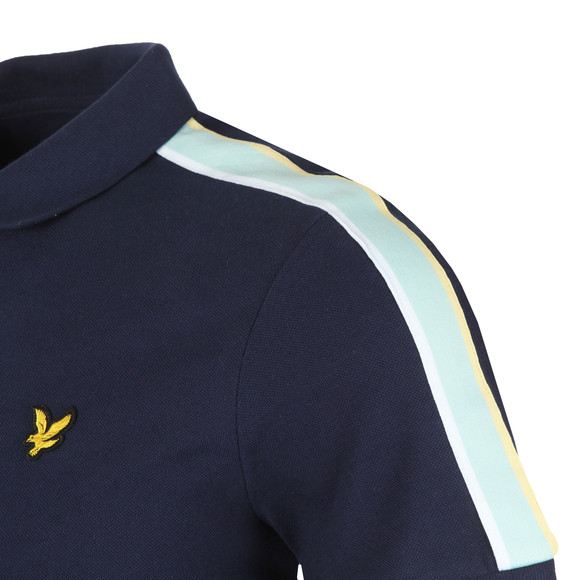 Lyle and Scott Mens Blue Side Stripe Polo main image