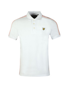 Lyle and Scott Mens White Side Stripe Polo