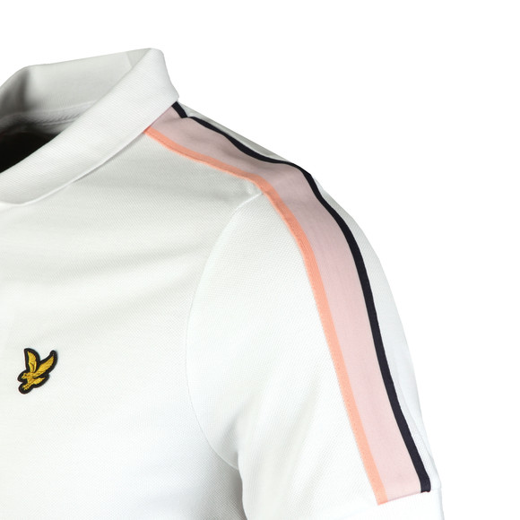 Lyle and Scott Mens White Side Stripe Polo main image