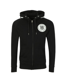 Replay Mens Black Full Zip Hooded Sweat