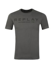 Replay Mens Grey Logo Print Tee