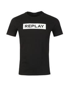 Replay Mens Black Logo Print Tee