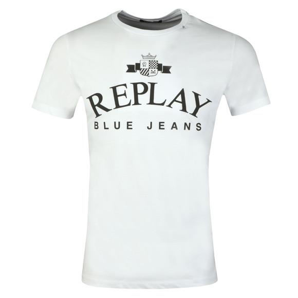 Replay Mens White Logo Print Tee main image