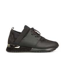 Mallet Womens Black Elast Velvet Trainer