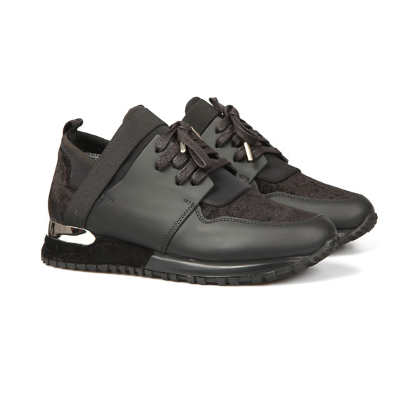 Mallet. Womens Black Elast Velvet Trainer main image