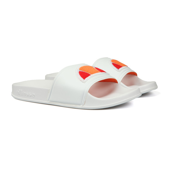 Ellesse Mens White Filippo Badge Slide main image
