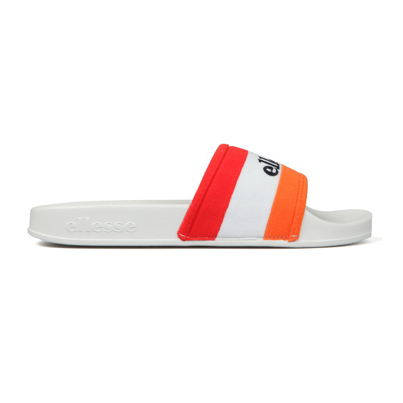 Ellesse Mens White Borgaro Text Slide