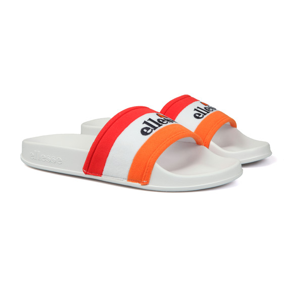 Ellesse Mens White Borgaro Text Slide main image