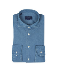 Eton Mens Blue Slim Denim Shirt