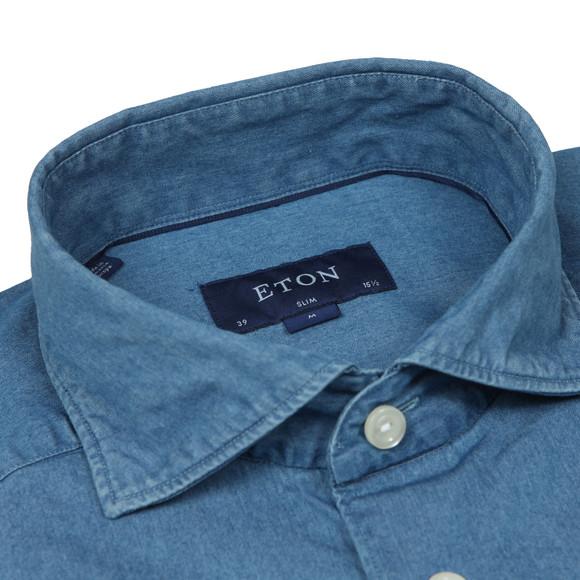 Eton Mens Blue Slim Denim Shirt main image