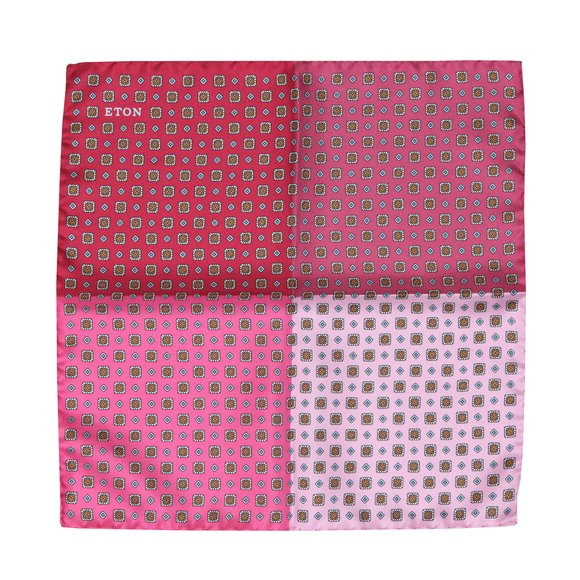 Eton Mens Pink Pocket Square main image