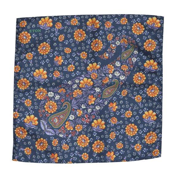 Eton Mens Blue Pocket Square main image