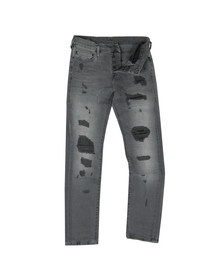 True Religion Mens Grey Rocco Traditional With Patches Jean