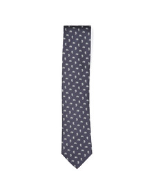 Eton Mens Blue Small Paisley Tie