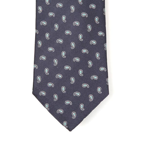 Eton Mens Blue Small Paisley Tie main image