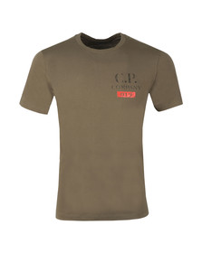 C.P. Company Mens Green Logo T Shirt