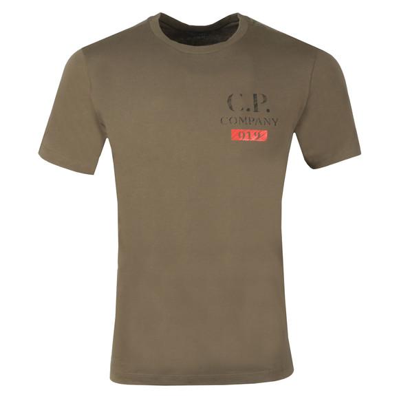 C.P. Company Mens Green Logo T Shirt main image