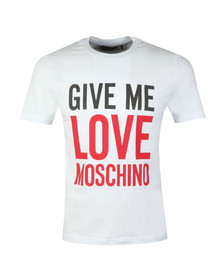 Love Moschino Mens White Give Me Love T Shirt