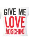 Love Moschino Mens White Give Me Love T Shirt