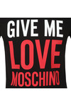 Love Moschino Mens Black Give Me Love T Shirt