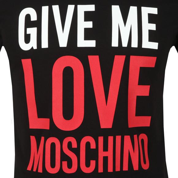 Love Moschino Mens Black Give Me Love T Shirt main image